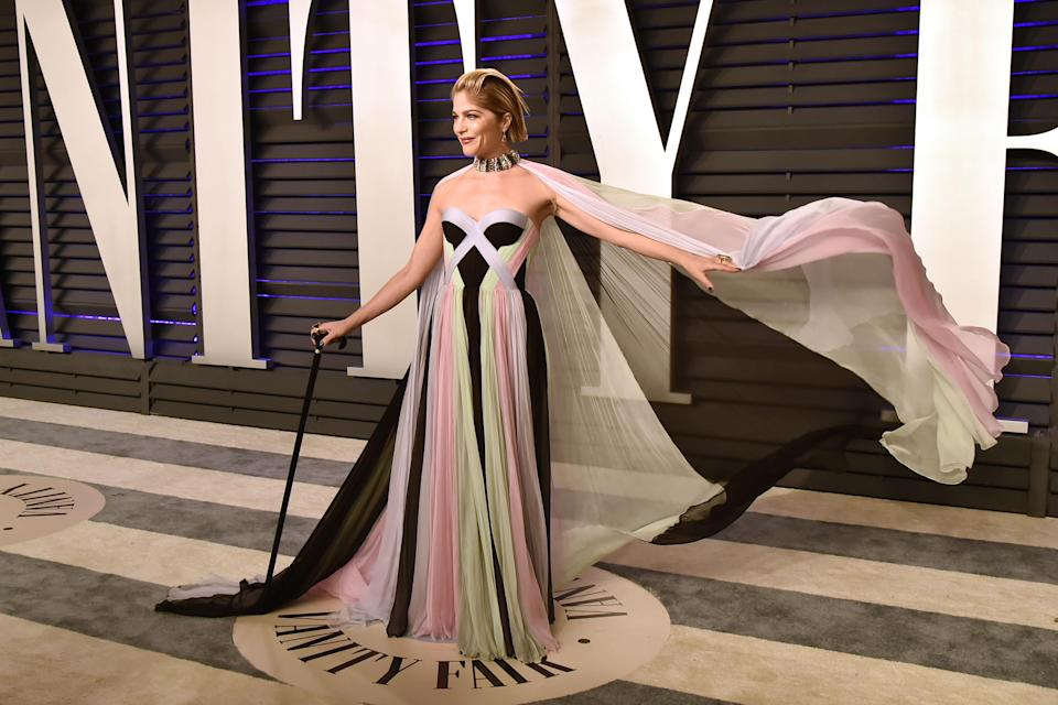 Selma Blair at the Vanity Fair Oscars 2019 after party [Photo: Getty]