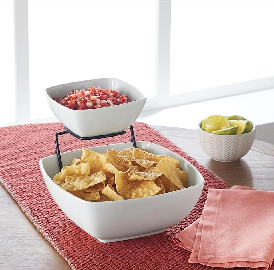 three piece chip and dip set