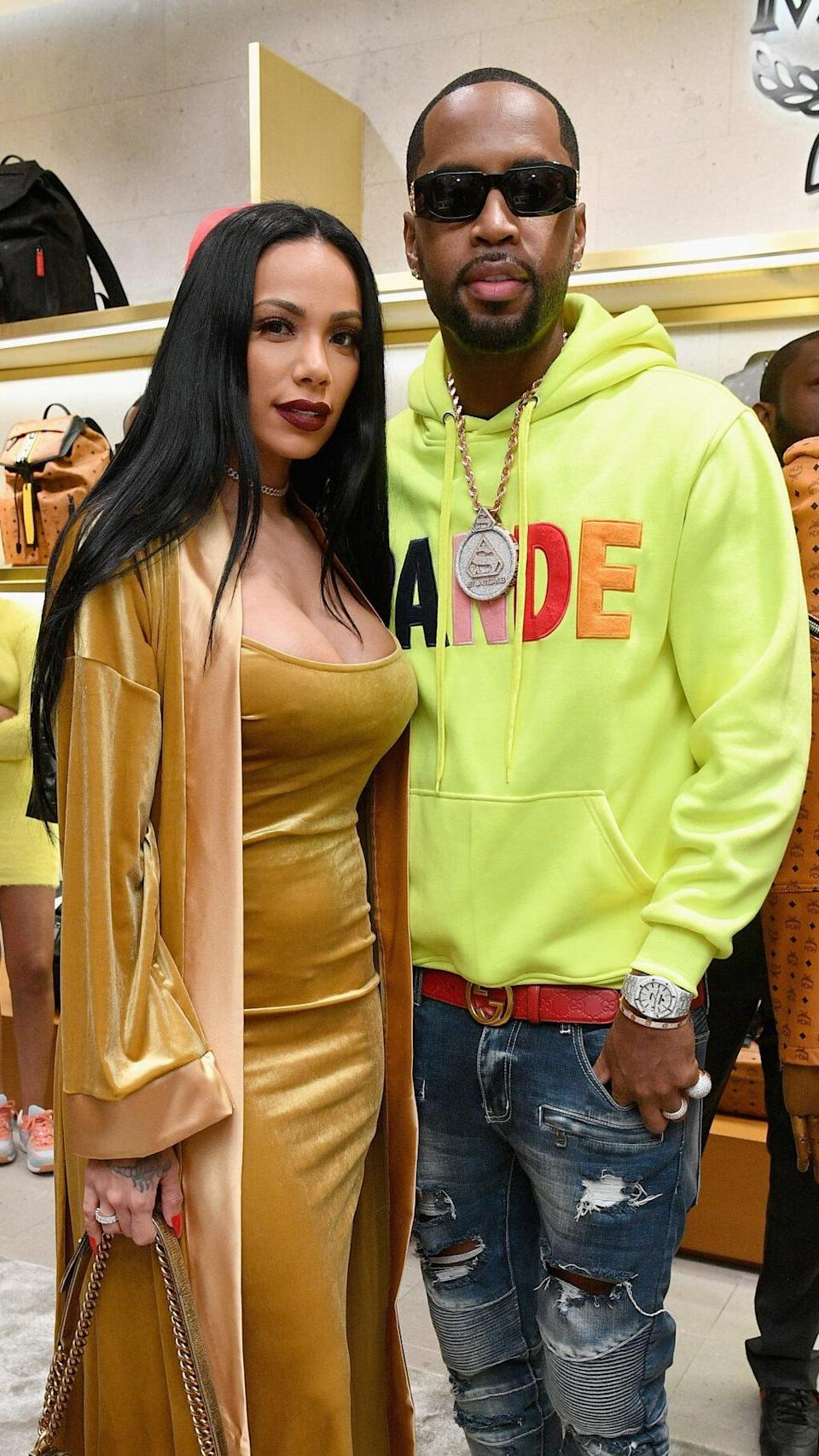 Erica Mena and Safaree Samuels attend MCM x Super Bowl LIII on February 2, 2019 in Atlanta, Georgia. (Photo by Dia Dipasupil/Getty Images for MCM)