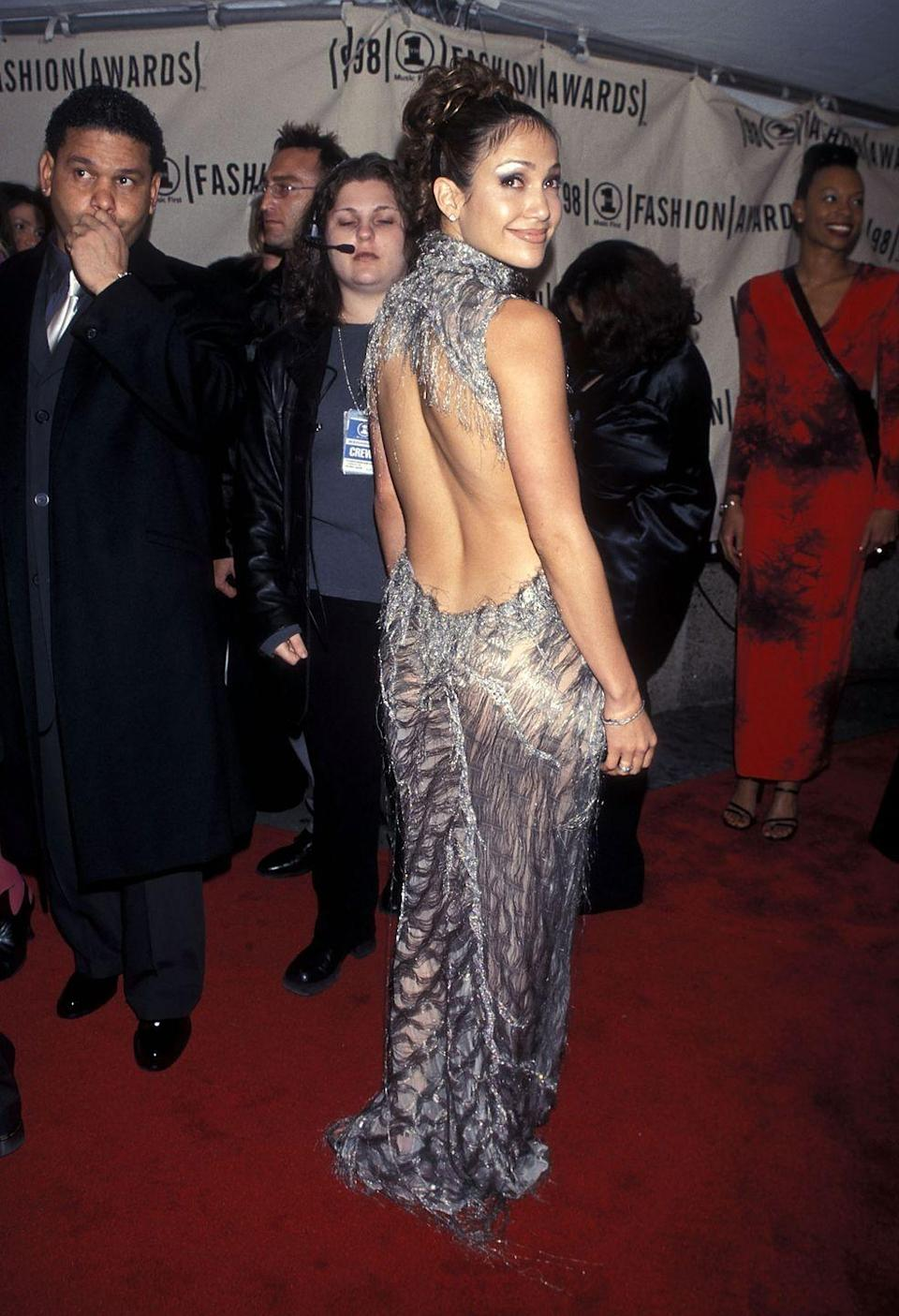 <p><strong>When: </strong>October 1998</p><p><strong>Where: </strong>The VH1 Fashion Awards</p><p><strong>Wearing: </strong>Versace</p>