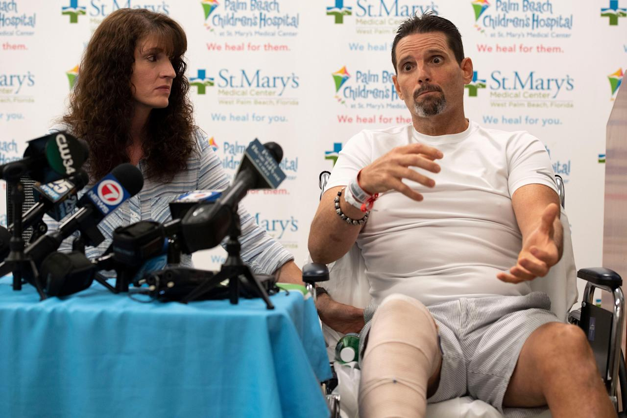Florida man nearly loses leg — and life — to alligator while hunting hogs