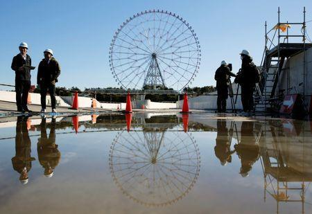 A general view of the construction site of the Kasai Canoe Slalom Centre for Tokyo 2020 Olympic games in Tokyo, Japan February 12, 2019. REUTERS/Issei Kato