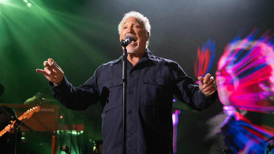 Tom Jones is showing no signs of slowing down on stage as he enters his eighties. (Samir Hussein/WireImage for ABA)
