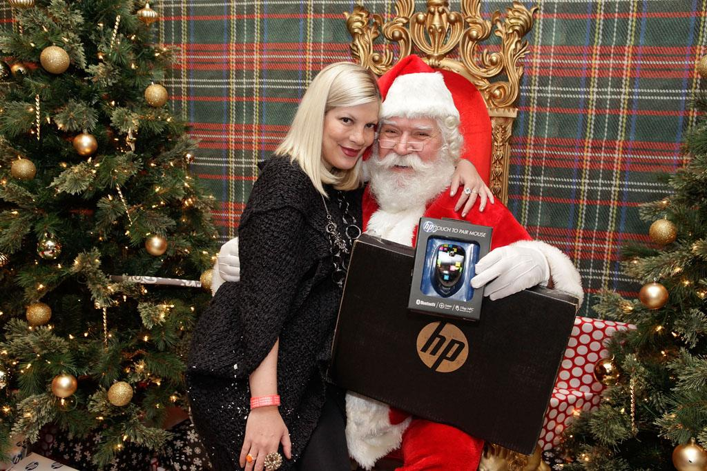 WEST HOLLYWOOD, CA - DECEMBER 01:  Actress Tori Spelling attends the 2nd Annual Santa's Secret Workshop Benefiting L.A. Family Housing at Andaz on December 1, 2012 in West Hollywood, California.  (Photo by Tiffany Rose/WireImage)