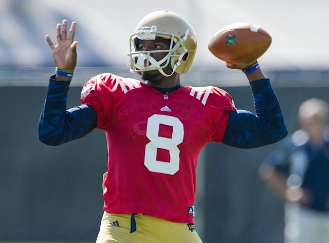 Malik Zaire believes he will beat out Everett Golson for the Notre Dame starting quarterback job