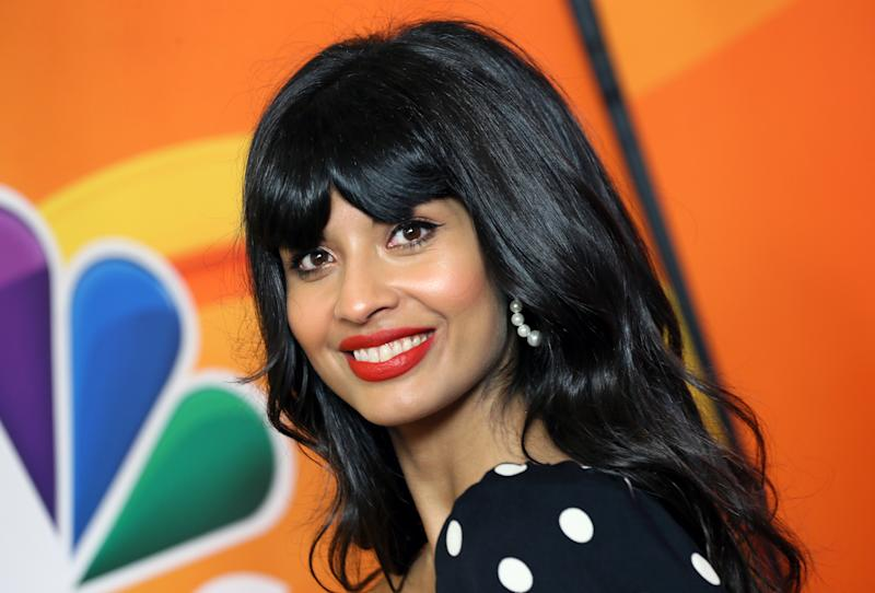 Jameela Jamil has celebrated a win in her fight against airbrushing by refusing to edit out her 'back fat' [Photo: Getty]