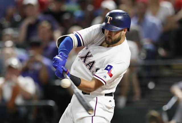 Joey Gallo will hit some massive home runs. (Photo by Ronald Martinez/Getty Images)