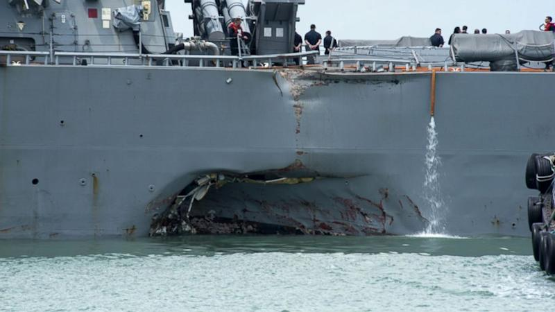 Bodies of some of the 10 missing US sailors found after collision off Singapore
