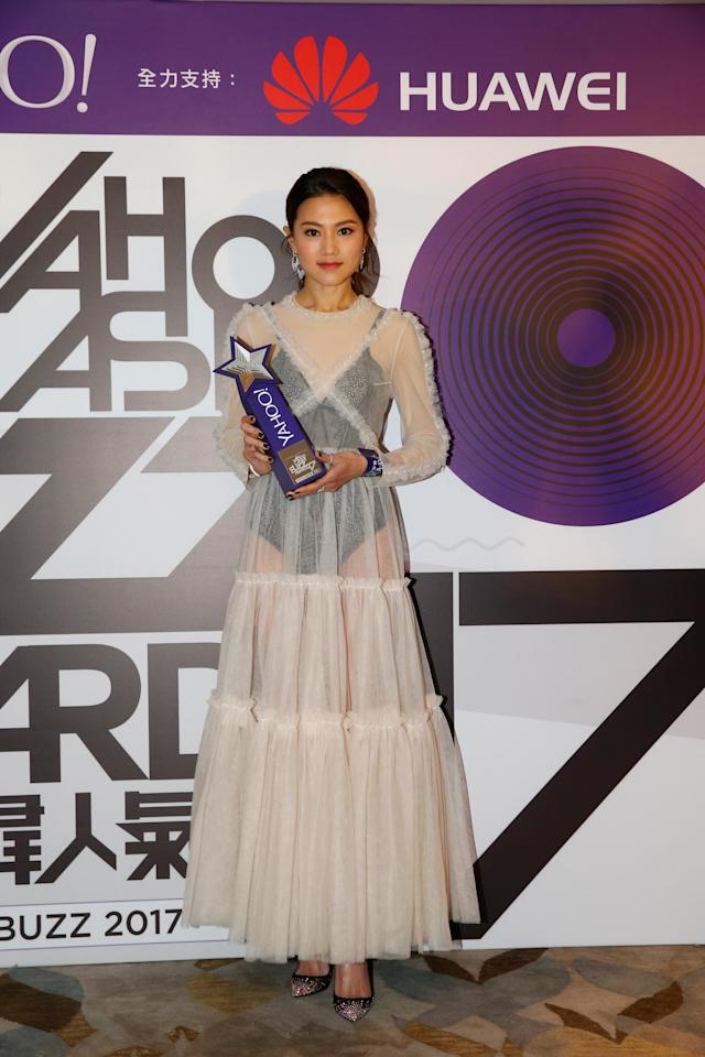 <p>Chrissie Chau wins Most Appealing HK Female Artist at the Yahoo Asia Buzz Awards 2017 in Hong Kong on Wednesday (6 December).</p>