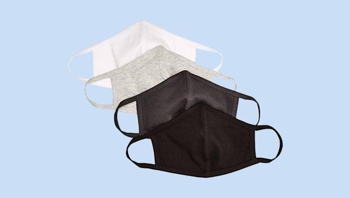 Quality Durables Adults and Kids 4-Pack Reusable Face Covering (Photo: Amazon)