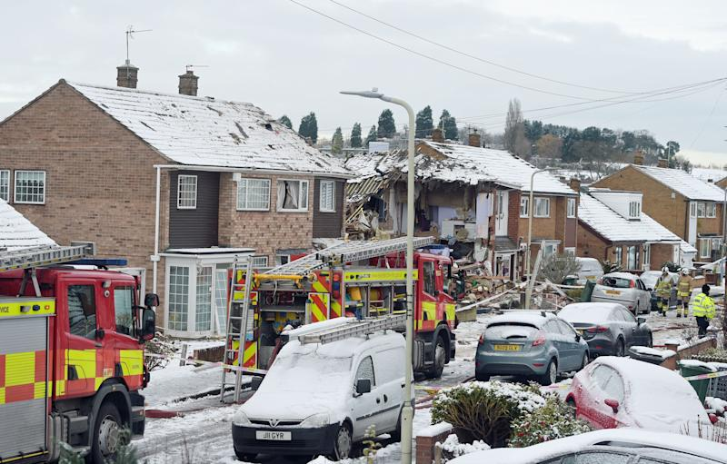 The explosion happened at Birstall near Leicester (Picture: PA)