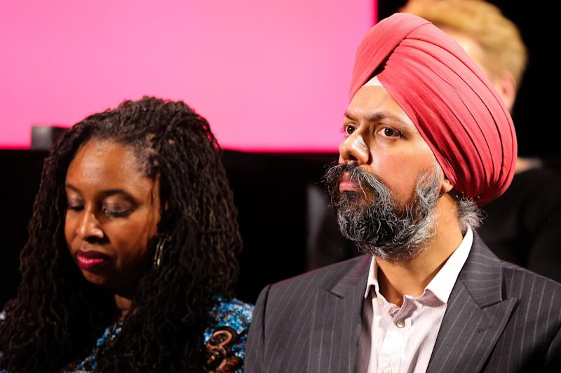 Shadow equalities secretary Dawn Butler and Tan Singh Dhesi at Labour's race manifesto launch (Photo: SIPA USA/PA Images)