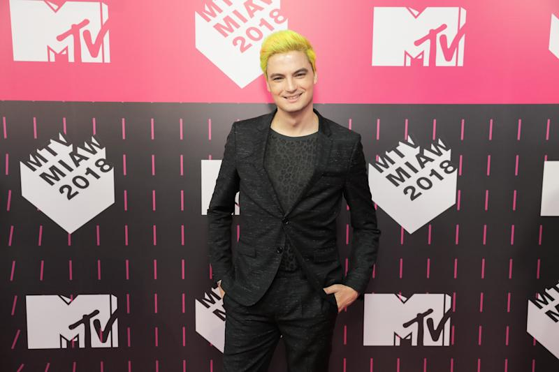 SAO PAULO, BRAZIL - MAY 23: Felipe Neto attends the MTV MIAW 2018 at Citibank Hall on May 23, 2018 in Sao Paulo, Brazil. (Photo by Mauricio Santana/Getty Images)
