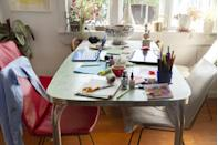 """<p>Clearing clutter can not only leave you feeling more relaxed, but it can also minimize allergy-causing dust. </p><p>""""Minimalist designs look nice, improve the flow of the room, and gives dust less places to build up and trigger your allergies,"""" Stark says. Use <a href=""""https://www.womansday.com/home/organizing-cleaning/g2062/dollar-store-home-organization-ideas/"""" rel=""""nofollow noopener"""" target=""""_blank"""" data-ylk=""""slk:organizers"""" class=""""link rapid-noclick-resp"""">organizers</a>, like woven baskets or pretty storage bins, to keep items out of sight. </p>"""
