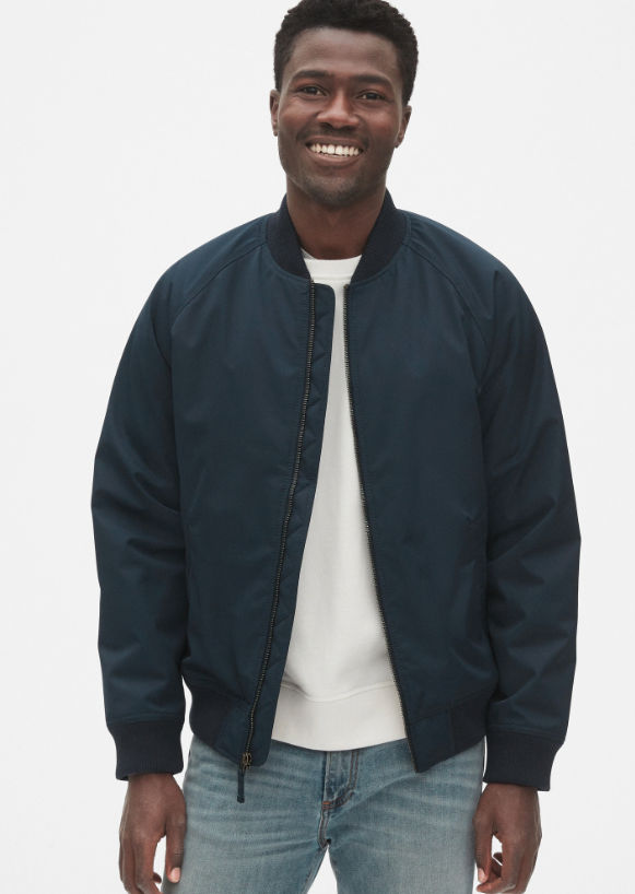 Available in Black and Navy. Image via GAP