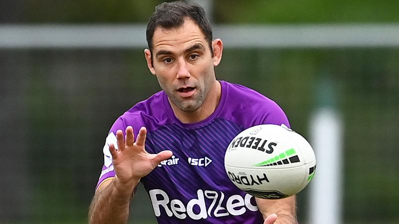 Seen here, Cameron Smith at Melbourne Storm training.