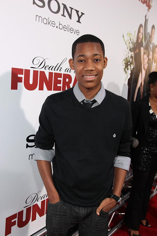 "Tyler James Williams at the Los Angeles premiere of <a href=""http://movies.yahoo.com/movie/1810077967/info"">Death at a Funeral</a> - 04/12/2010"