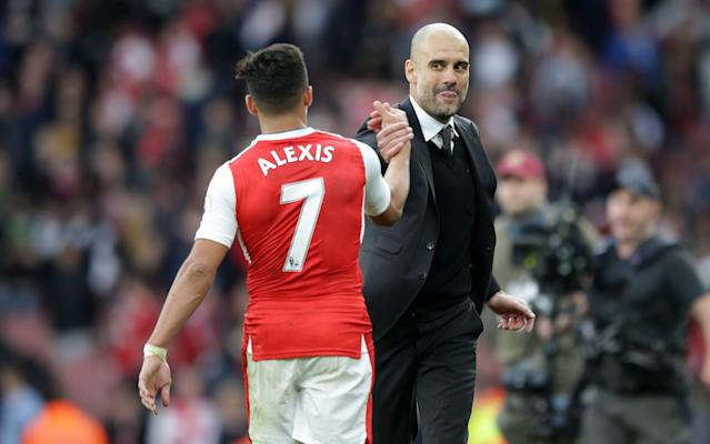 <span>Guardiola may move for Arsenal's Alexis Sanchez in the summer</span> <span>Credit: Rex Features </span>
