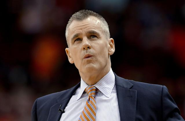 Oklahoma City Thunder head coach Billy Donovan won two national championships as head coach at Florida before leaving for the NBA. (AP)