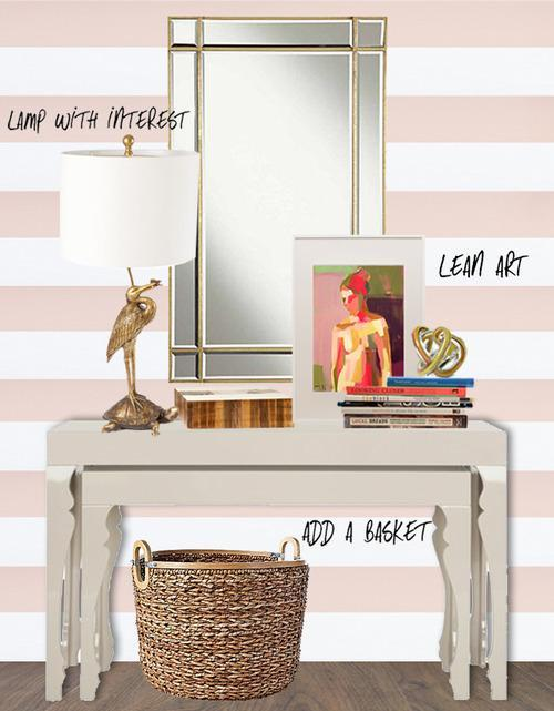 Foyer Table Styling : Tricks to make your home magazine worthy