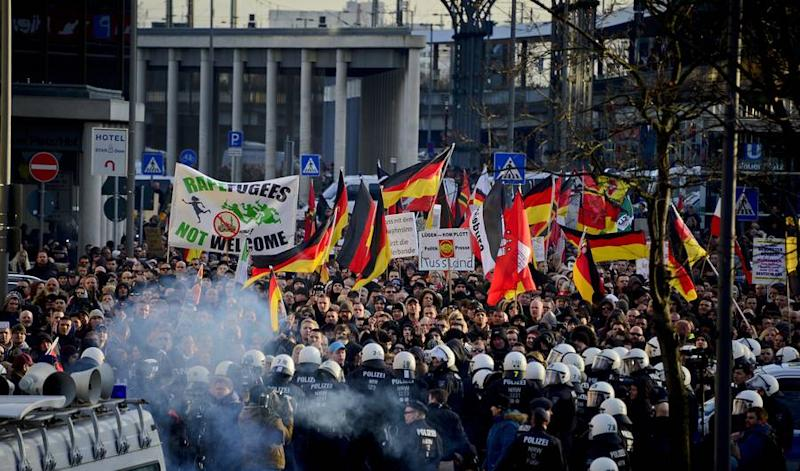 Image result for german protester muslim