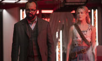 <p>Westworld continues to delight and infuriate in equal measure, juggling spectacularly complicated backstory with philosophical insight with brutal violence. Brilliant performances, including a Golden Globe-winning Thandie Newton hold it all together.<br>Photo: Sky </p>