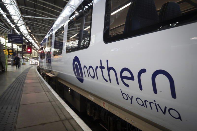 "A Northern train at Leeds Train Station as it is announced that the Northern Rail franchise will only be able to continue ""for a number of months"". (Photo by Danny Lawson/PA Images via Getty Images)"