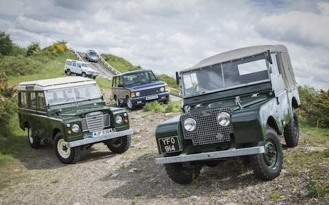 Classic land Rovers and original Range Rover