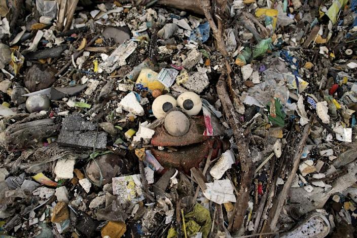At current rates of dumping, there could be more plastic trash than fish in the world's oceans by 2050 if nothing is done (AFP Photo/Noel CELIS)