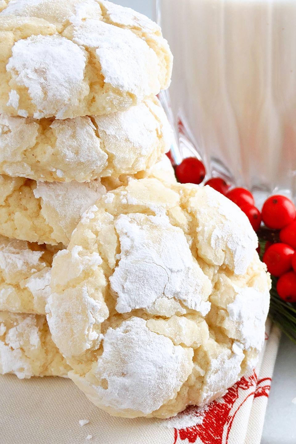 "<p>Serve these buttery bites at room temperature, or even slightly chilled from the refrigerator.</p><p><strong>Get the recipe at <a href=""http://wickedgoodkitchen.com/eggnog-gooey-butter-cookies-from-scratch/"" rel=""nofollow noopener"" target=""_blank"" data-ylk=""slk:Wicked Good Kitchen"" class=""link rapid-noclick-resp"">Wicked Good Kitchen</a>.</strong></p><p><a class=""link rapid-noclick-resp"" href=""https://www.amazon.com/OXO-Stainless-Flexible-Turner-Medium/dp/B00004OCL8?tag=syn-yahoo-20&ascsubtag=%5Bartid%7C10050.g.647%5Bsrc%7Cyahoo-us"" rel=""nofollow noopener"" target=""_blank"" data-ylk=""slk:SHOP SPATULAS"">SHOP SPATULAS</a></p>"