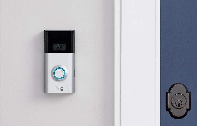 Now you can see and talk to whosever at the door without actually answering it. (Photo: Amazon)