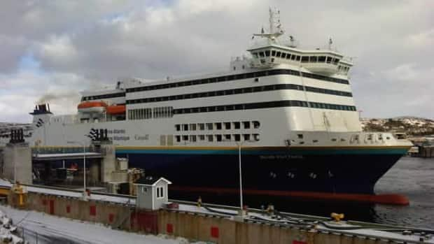 The Department of Health is advising all passengers who travelled in the deck 7 seating area of the MV Blue Puttees from North Sydney to Port aux Basques to get tested for COVID-19. (Paul Pigott/CBC - image credit)