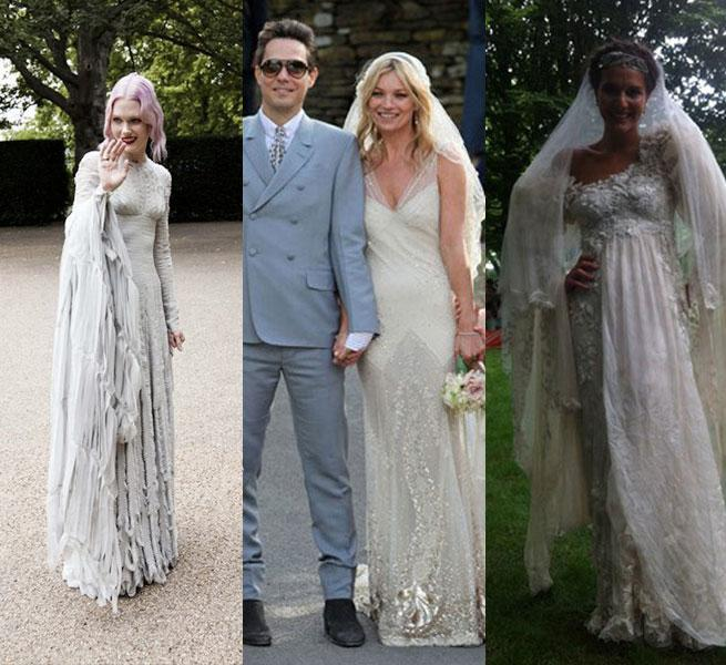 Mary Charteris Wears Pam Hogg To Wed In Front Fashionable Guests ...