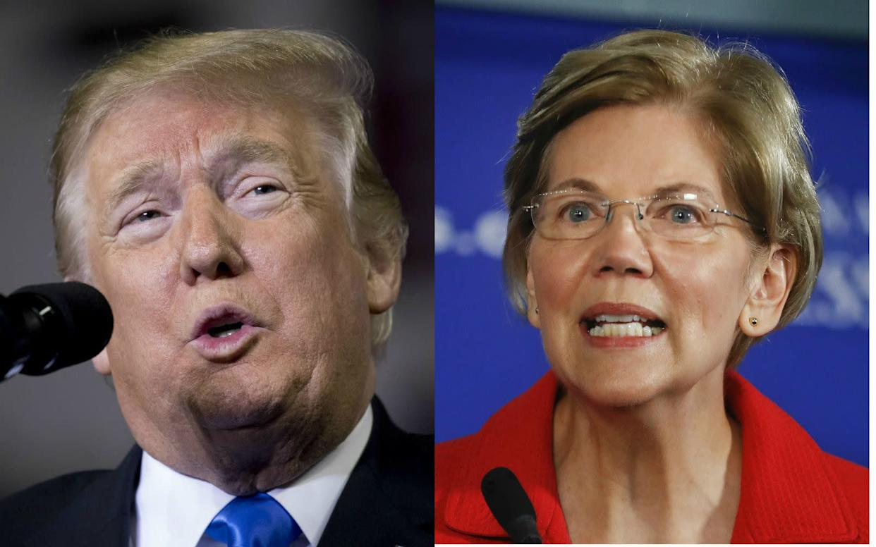 "In an effort to pre-empt President Donald Trump's refrain of ""Pocahontas,"" Sen. Elizabeth Warren released a DNA test to prove her family's ancestry. (Photo: The Associated Press)"
