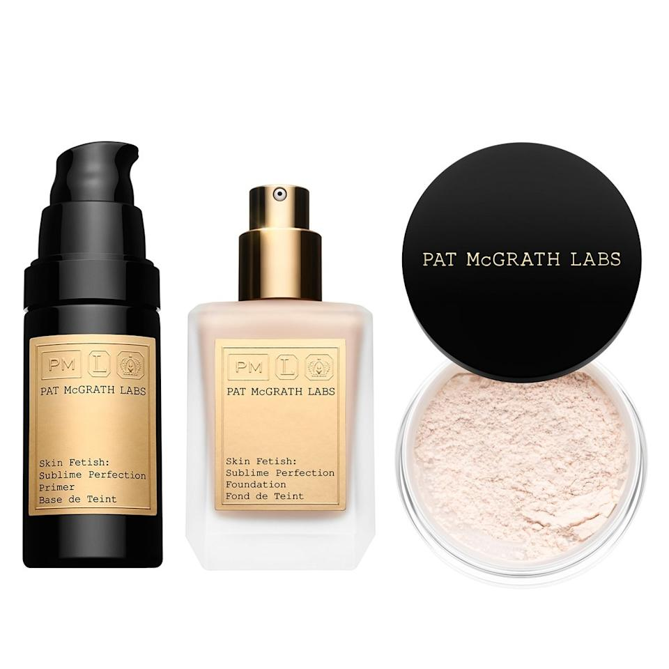 """<p><em>Any</em> gift from Mother Pat McGrath is going to send a beauty lover into a frenzy, but give them the Skin Fetish: Sublime Perfection Kit and you'll be in their good graces for the rest of eternity. This <a href=""""https://www.allure.com/story/pat-mcgrath-labs-sublime-perfection-foundation-primer-setting-powder?irclickid=UOFUGGQIaxyJWYpwUx0Mo38zUknwH8x6k1cNxY0&source=ALB_AFF_IMPACT_adgoal%20GmbH&utm_source=Impact-affiliate&utm_campaign=Online%20Tracking%20Link&utm_medium=adgoal%20GmbH&irgwc=1&mbid=synd_yahoo_rss"""">three-step system</a> of face primer, medium-coverage liquid foundation, and setting powder has wooed the likes of Kacey Musgraves, Cardi B, and every <em>Allure</em> editor who's ever worn it, among many others.</p> <p><strong>$250</strong> (<a href=""""https://www.patmcgrath.com/collections/new/products/skin-fetish-sublime-perfection-the-system-everything-kit#11979336450117"""" rel=""""nofollow"""">Shop Now</a>)</p>"""