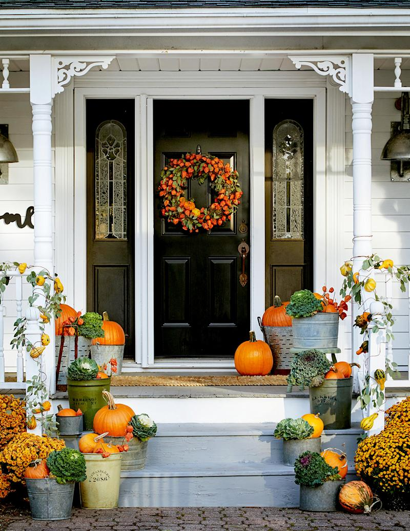 21 Ideas for Your Prettiest Fall Front Door Ever