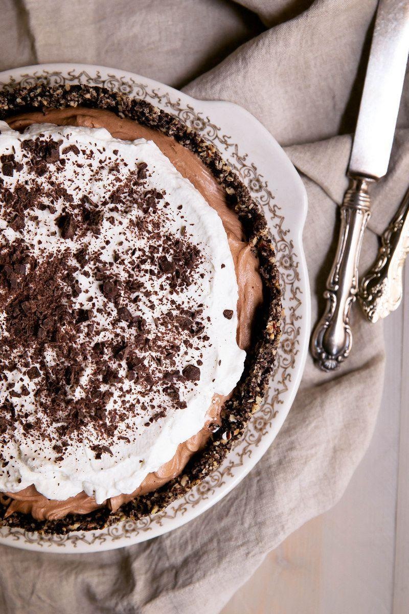 "<p>Because this pie should cool for at least eight hours, it's recommended that you make it the day before you plan on serving. You may be tempted to slice it right away, but it's <em>so</em> worth the wait. </p><p><strong>Get the recipe at <a href=""https://www.ambitiouskitchen.com/deep-dish-french-silk-pie-with-hazelnut-oreo-cookie-crust/"" rel=""nofollow noopener"" target=""_blank"" data-ylk=""slk:Ambitious Kitchen"" class=""link rapid-noclick-resp"">Ambitious Kitchen</a>.</strong></p><p><strong><a class=""link rapid-noclick-resp"" href=""https://go.redirectingat.com?id=74968X1596630&url=https%3A%2F%2Fwww.walmart.com%2Fip%2FNordic-Ware-9-Springform-Pan%2F17430035&sref=https%3A%2F%2Fwww.countryliving.com%2Ffood-drinks%2Fg957%2Fchocolate-pie-recipes%2F"" rel=""nofollow noopener"" target=""_blank"" data-ylk=""slk:SHOP SPRINGFORM PANS"">SHOP SPRINGFORM PANS</a><br></strong></p>"