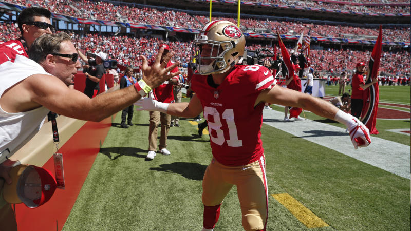 4fa8a1b76 49ers  Trent Taylor switches jersey number ahead of 2019 NFL season