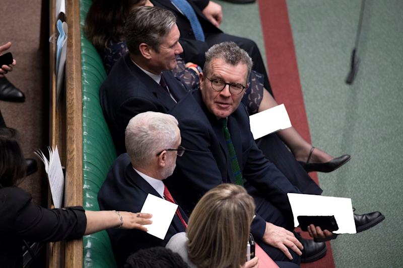Tom Watson has said Labour will only defeat Nigel Farage's Brexit Party if they back a second referendum (PA)