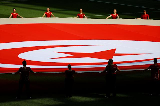 Soccer Football - World Cup - Group G - Belgium vs Tunisia - Spartak Stadium, Moscow, Russia - June 23, 2018 General view before the match REUTERS/Kai Pfaffenbach