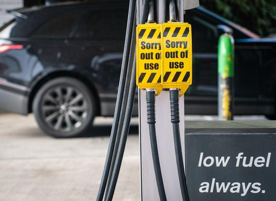 The fuel crisis begin when demand surged after BP announced it would have to close a handful of its petrol stations last month (Dominic Lipinski/PA) (PA Wire)