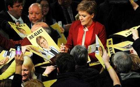The SNP's 2016 election manifesto promised not to increase the basic rate of income tax - Credit: AFP