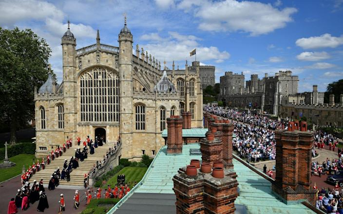 St George's Chapel pictured during the Order of the Garter Service in 2019 - Ben Stansall/PA Wire