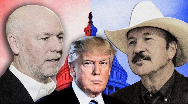 Montana congressional candidates Greg Gianforte, a Republican, and Democrat Rob Quist. (Photo illustration: Yahoo News; photos: Bobby Calvan/AP, Matthew Brown/AP)