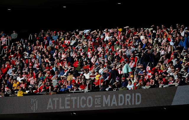 Soccer Football - La Liga Santander - Atletico Madrid vs Athletic Bilbao - Wanda Metropolitano, Madrid, Spain - February 18, 2018 General view of Atletico Madrid fans REUTERS/Javier Barbancho
