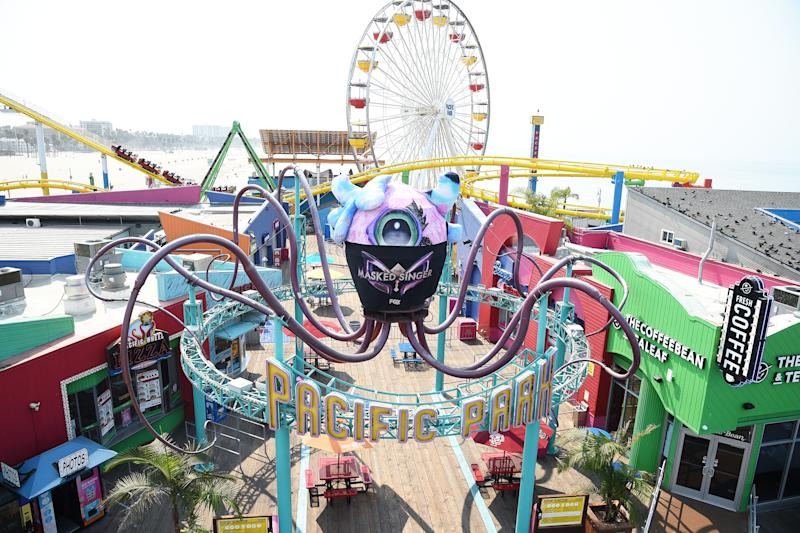 MASK-UP FYC: The Masked Singer FYC: Iconic Los Angeles locations join THE MASKED SINGER and FOX in keeping their masks on this awards season. Pictured: Miss Monster at Pacific Park on the Santa Monica Pier. © 2020 Fox Media LLC. CR: Frank Micelotta/FOX/PictureGroup