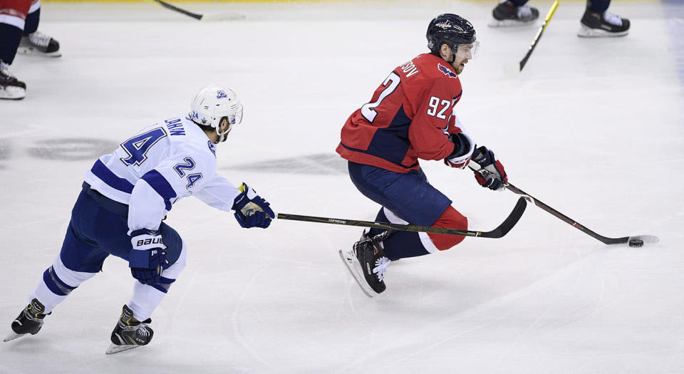 Washington Capitals center Evgeny Kuznetsov has never shown much defensive acumen, but he might be a penalty killer soon. (Nick Wass/AP)