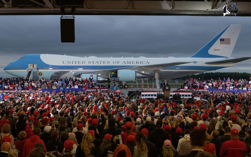 Donald Trump holds a campaign rally at MBS International Airport - RENA LAVERTY/EPA-EFE/Shutterstock