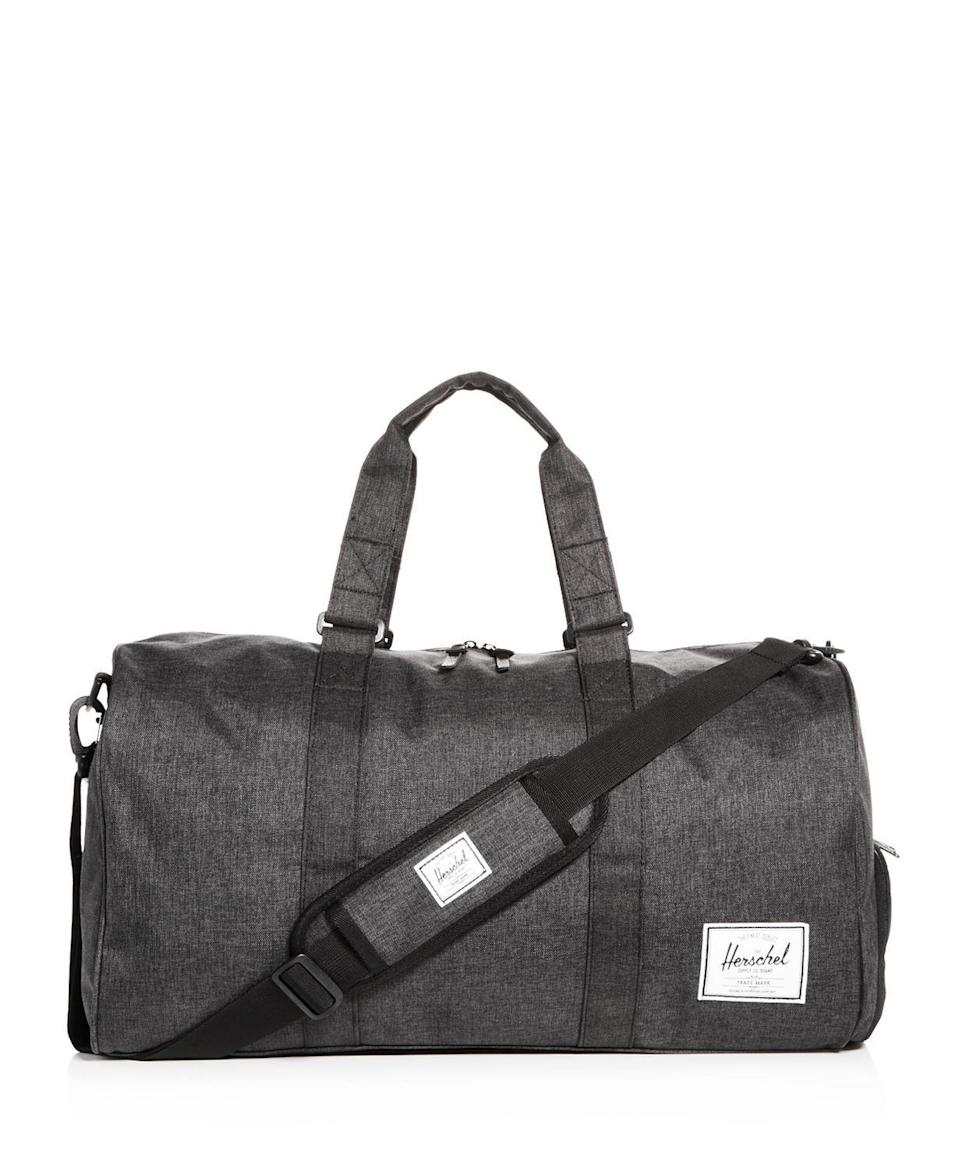 "<p><strong>Herschel Supply Co. </strong></p><p>bloomingdales.com</p><p><strong>$90.00</strong></p><p><a href=""https://go.redirectingat.com?id=74968X1596630&url=https%3A%2F%2Fwww.bloomingdales.com%2Fshop%2Fproduct%2Fherschel-supply-co.-novel-duffel%3FID%3D3106387&sref=https%3A%2F%2Fwww.harpersbazaar.com%2Ffashion%2Ftrends%2Fg4473%2Fmens-holiday-gift-guide%2F"" rel=""nofollow noopener"" target=""_blank"" data-ylk=""slk:Shop Now"" class=""link rapid-noclick-resp"">Shop Now</a></p><p>A weekender bag he can take on all his getaways. </p>"