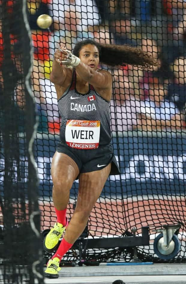 Jillian Weir makes a hammer throw in competition. Weir will be part of Canada's track and field team at the Olympic Games Tokyo 2020. (Claus Andersen/Athletics Canada - image credit)